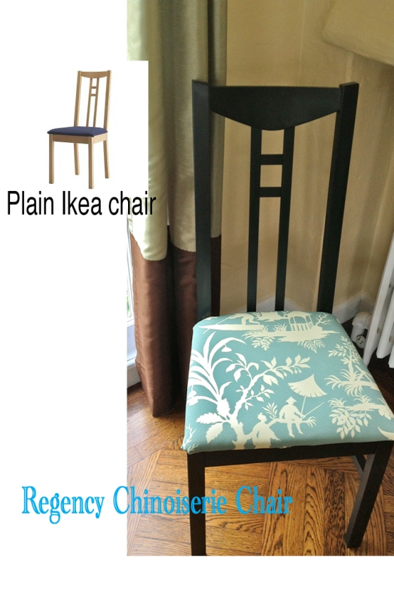 Ikea dining chair makeover by Jewels at Home