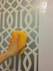 sponging wallpaper