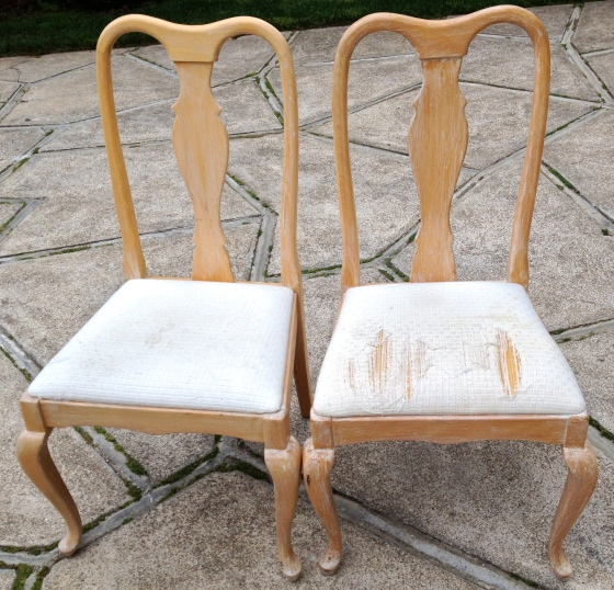 Queen Anne Chairs - before