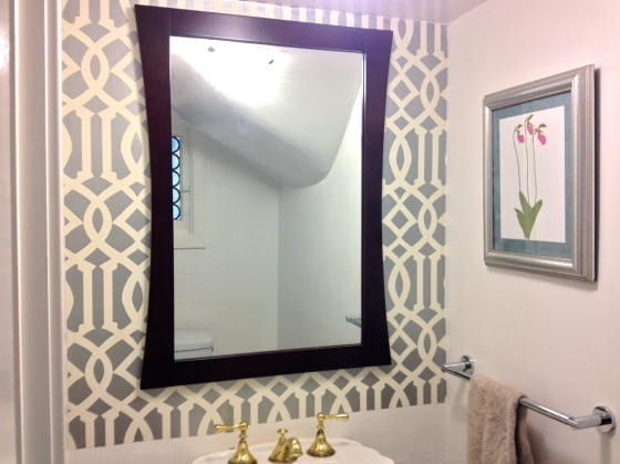 new mirror and towel bar