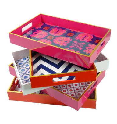 Lacquer wallpaper trays
