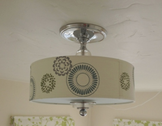 Stenciled lampshade | Jewels at Home