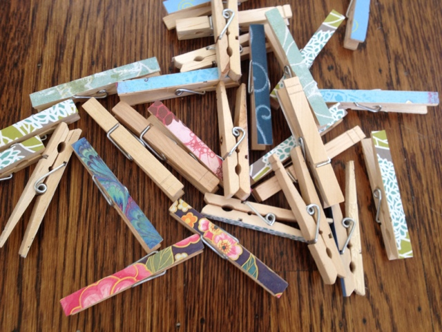 Covered clothespins