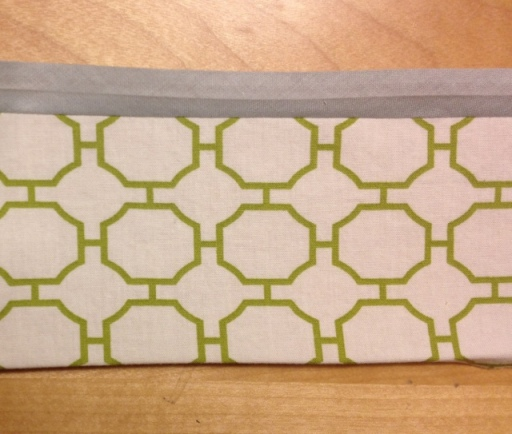 Sew together the different fabric strips