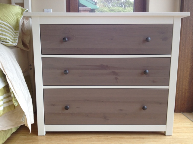 Easy coastal transformations for ikea dressers jewels at for Ikea hemnes grau