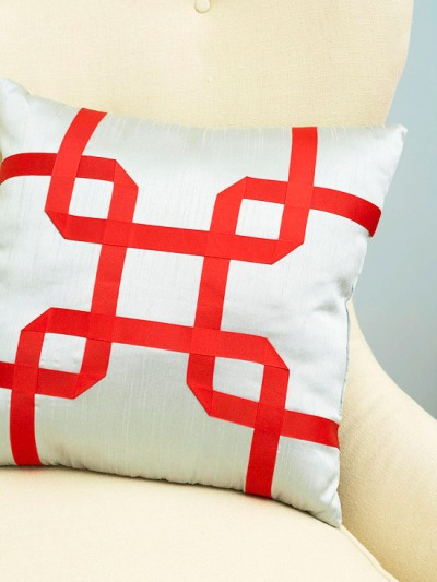 grosgrain ribbon pillow