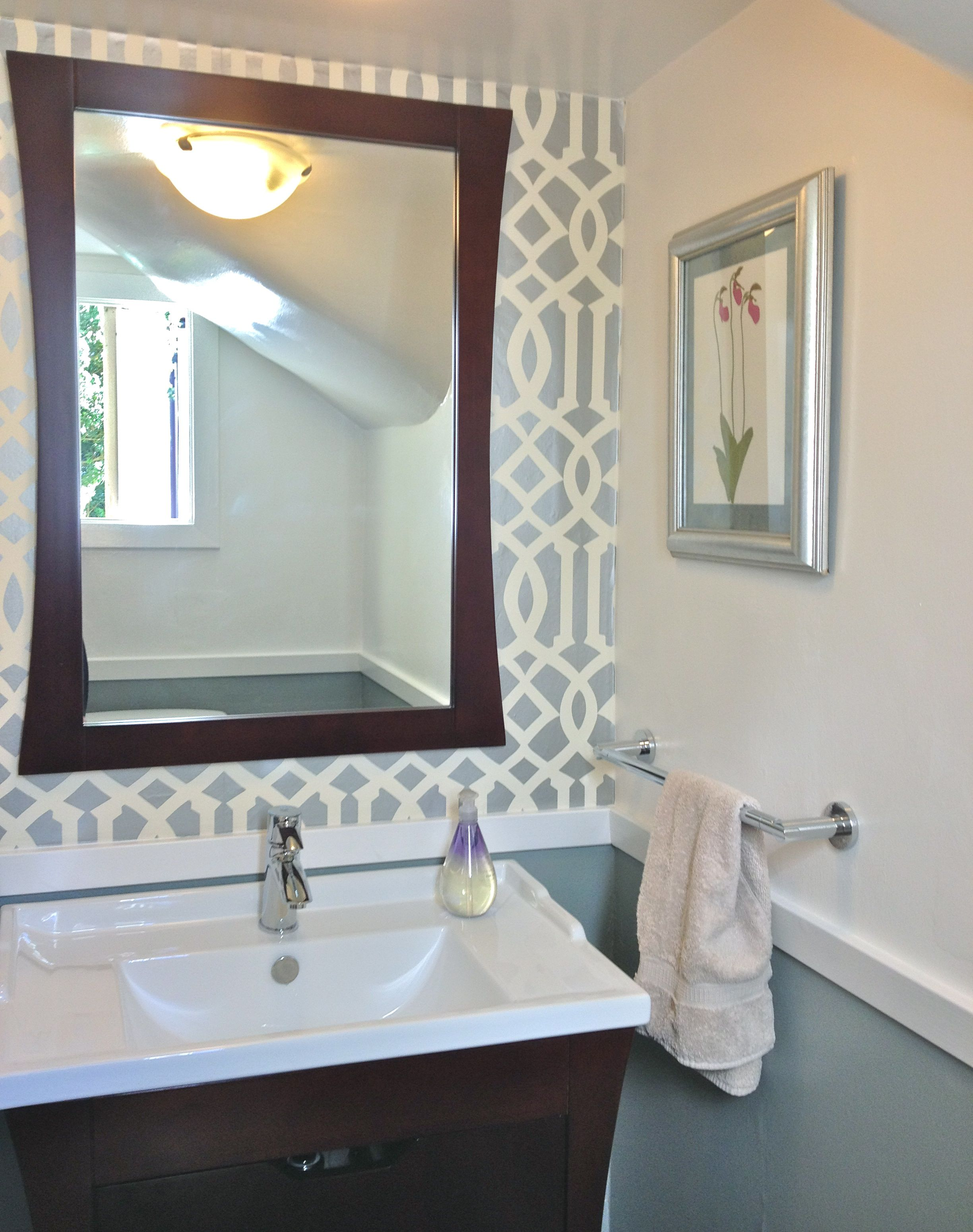 Powder Room Reveal – Tiny Silver Gem