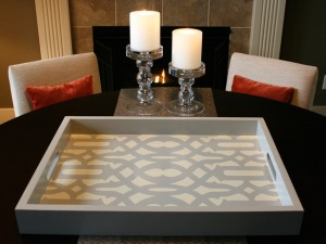 Stenciled Tray