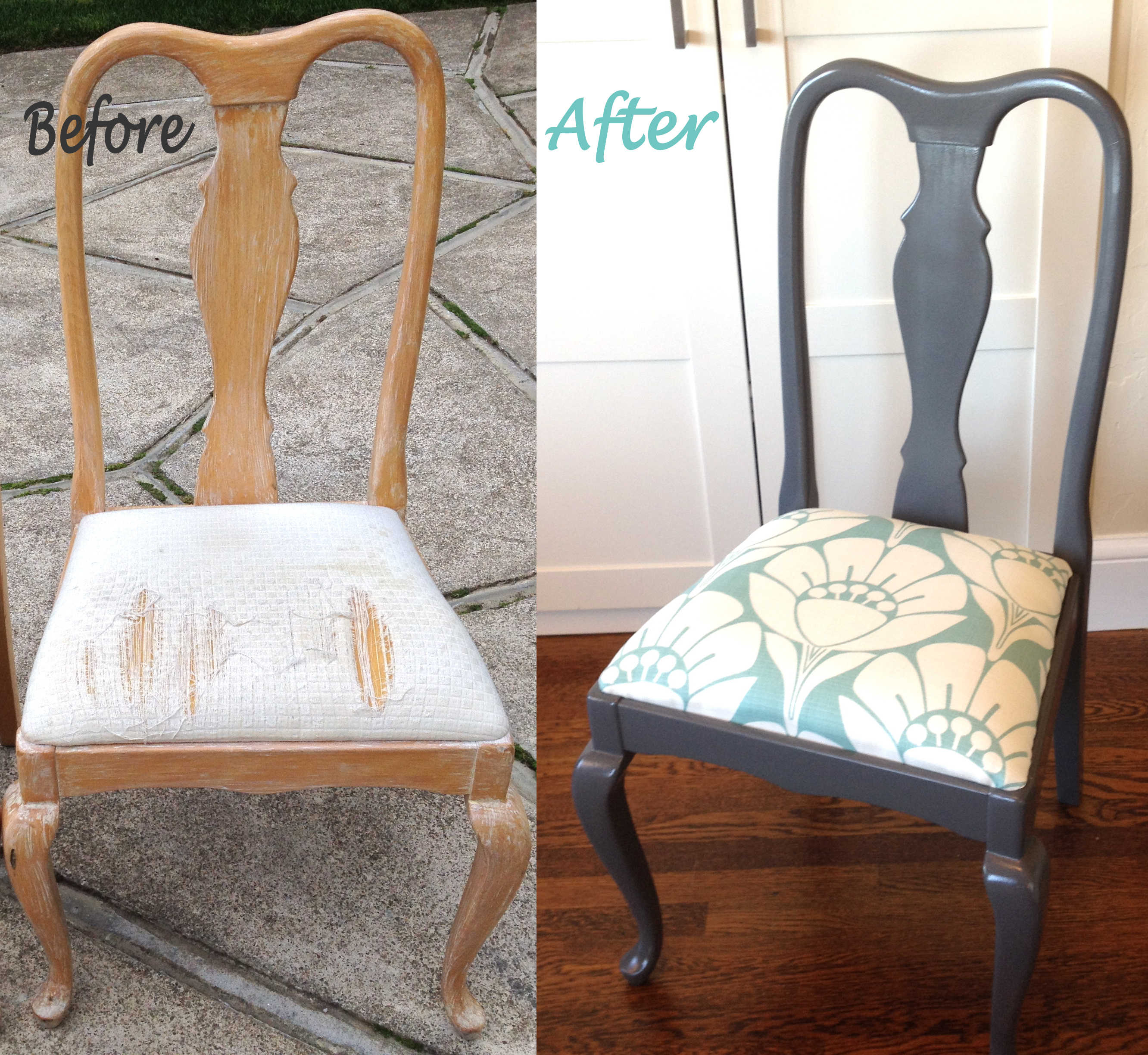 cloth chairs furniture. Queen Anne Before After Cloth Chairs Furniture E