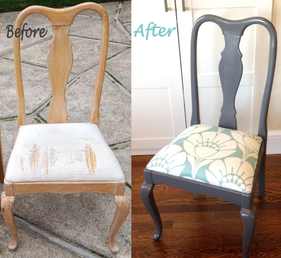 Queen Anne chair makeover by Jewels at Home