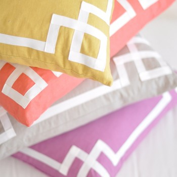 Ribbon motif pillows