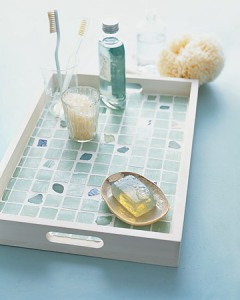 tiled tray