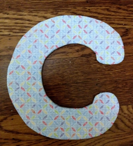 DIY cardboard wall initial decor by Jewels at Home