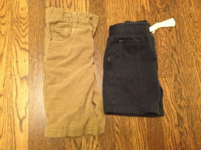 Turn worn-out pants into short for an eco-friendly solution for kids.  By Jewels at Home.