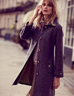 Boden Boiled Wool Coat