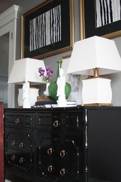 Callie's black dresser featured on Little Green Notebook