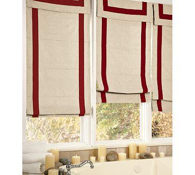 Ribbon Border Window Panels Master Bath Jewels At Home