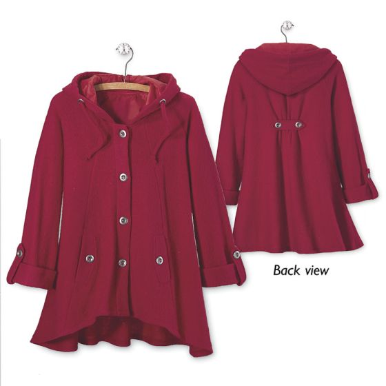 red boiled wool jacket