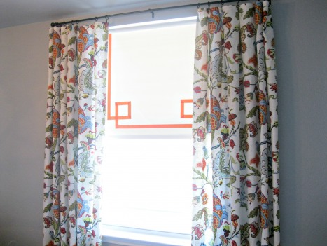 roller shade with border by What the Vita