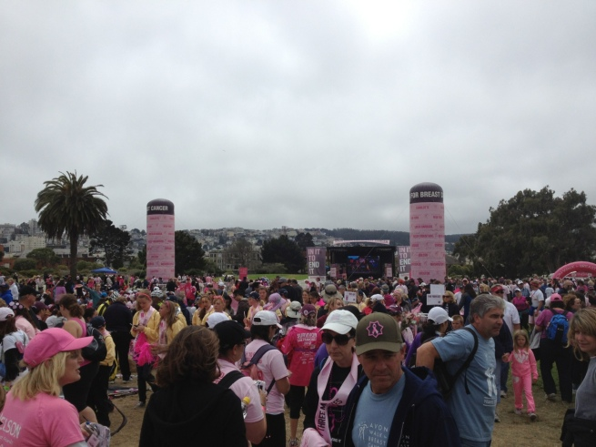 Closing ceremony for the Avon Walk.  A good balance of seriousness and hope.