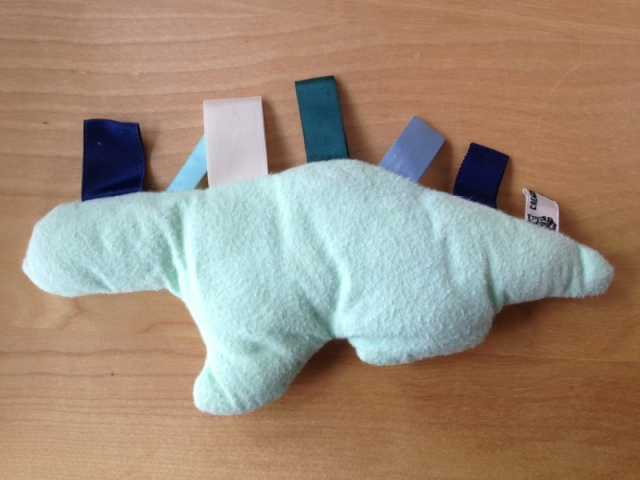 Dinosaur taggie lovey by Jewels at Home