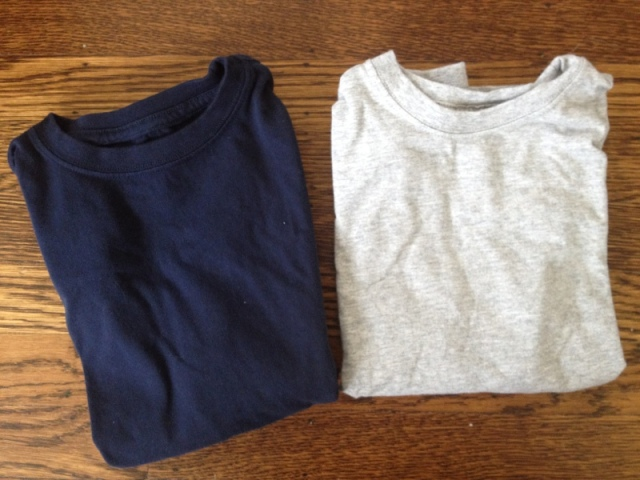 Plain long-sleeved T-shirts from Lands' End.