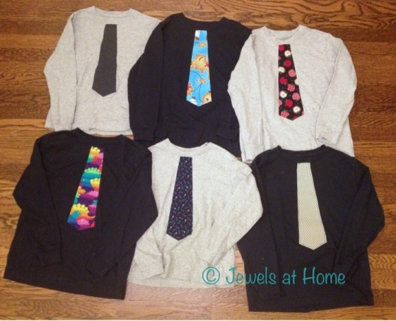 "DIY Iron-on ""tie"" T-shirts by Jewels at Home"