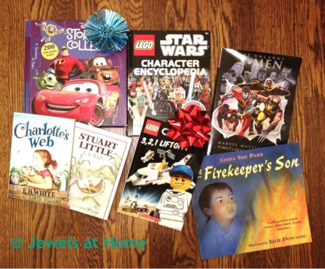 Instead of birthday gifts and party favors, do a book exchange!  From Jewels at Home.