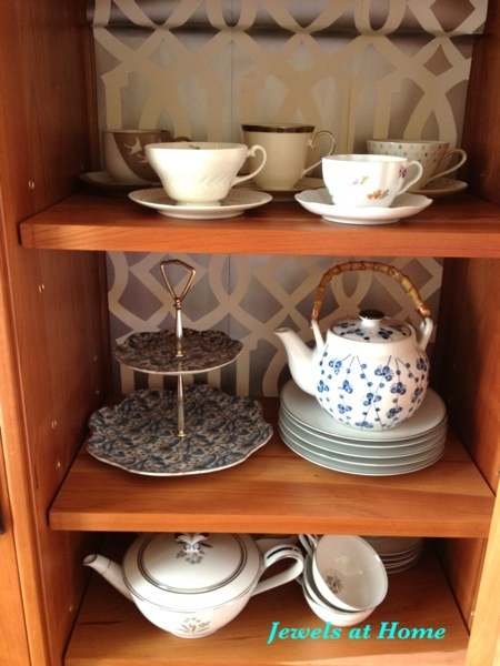 Collect teacups and serving items for a mix-and-match tea party.