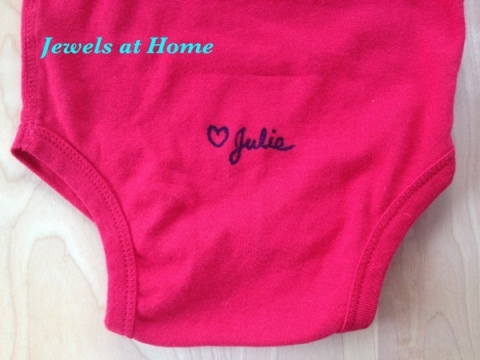 Sign your DIY onesie.