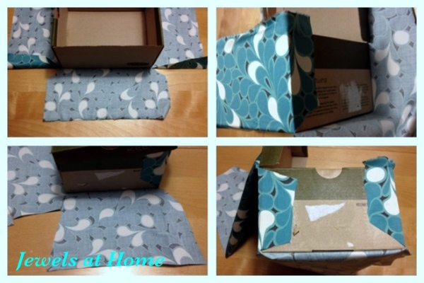 Tutorial for DIY Fabric-covered decorative boxes.  From Jewels at Home.
