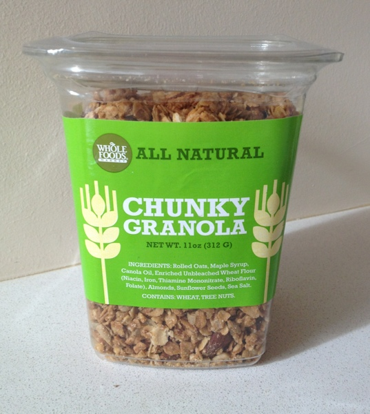 Whole Foods Chunky Granola.  Recipe for a homemade version from Jewels at Home.