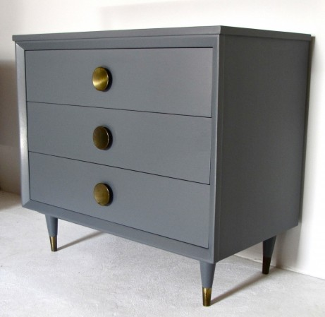 Grey dresser makeover by The Wits.