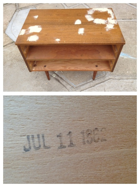 Mid-Century dresser found on Craigslist ready for a makeover!