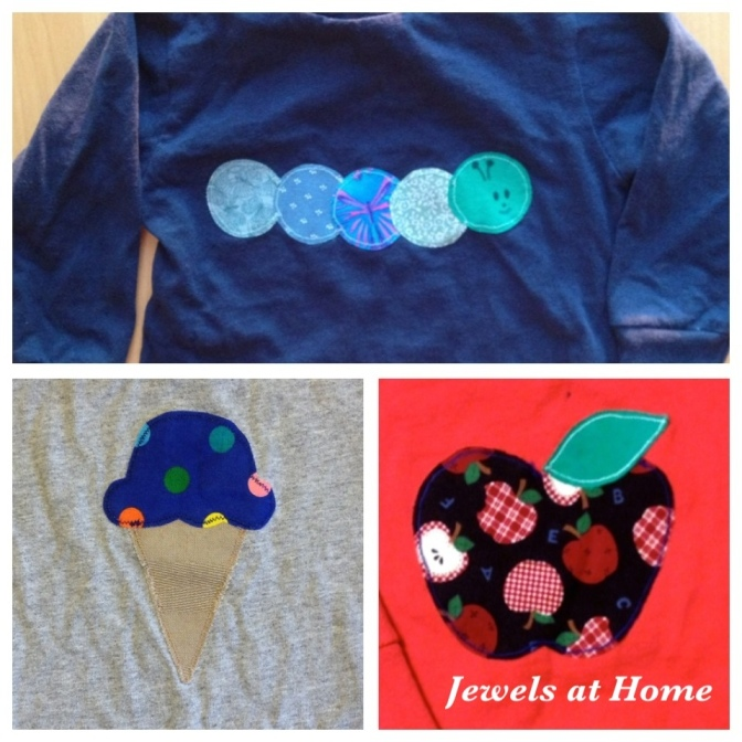 Lots of ideas for kid's appliques at Jewels at Home.