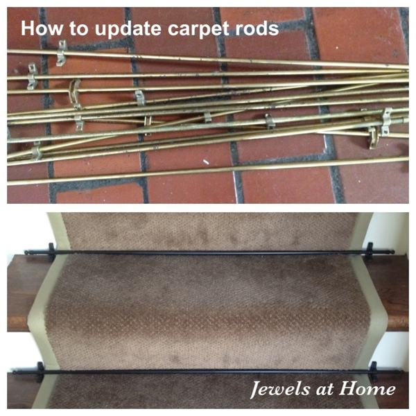 Update your carpet rods with a fresh coat of paint.  From Jewels at Home.