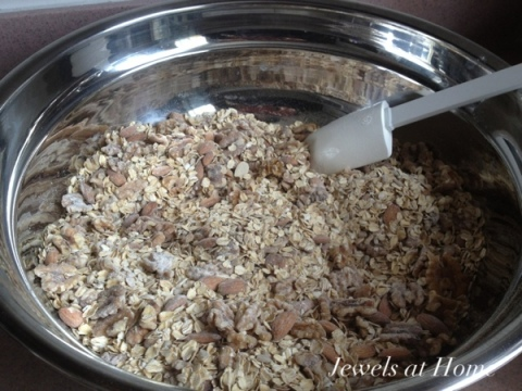 Chunky Nutty Granola recipe from Jewels at Home.