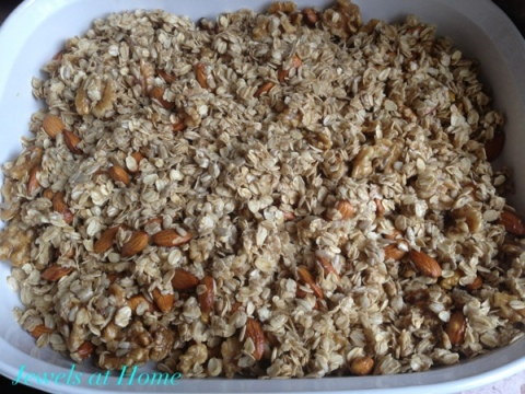 Chunky Nutty Granola recipe from Jewels at Home.  Whole Foods recipe copycat.