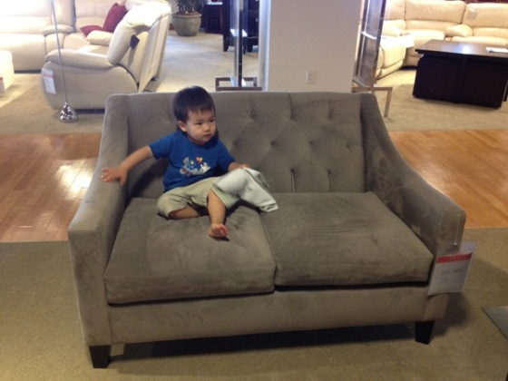 Chloe loveseat from Macy's.  Spotted by Jewels at Home.
