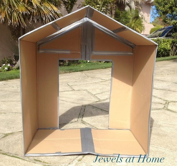 Folding Cardboard Play House Jewels At Home