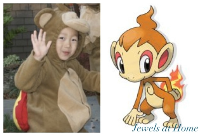 Chimchar Pokemon costume.  From Jewels at Home.