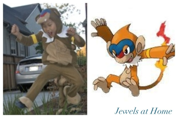 Monferno Pokemon costume.  From Jewels at Home.