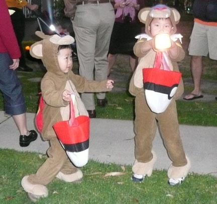 Pokemon Chimchar and Monferno Halloween Costumes.  Jewels at Home.