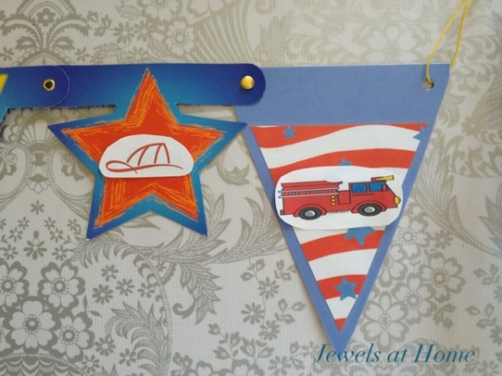 Customize a plain banner with removable decorations.  This banner can be used over and over again!  Jewels at Home.