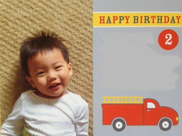 Red Firetruck birthday invitation from Shutterfly.  Perfect for a little boy's party!