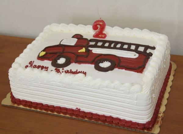 Firetruck birthday cake.