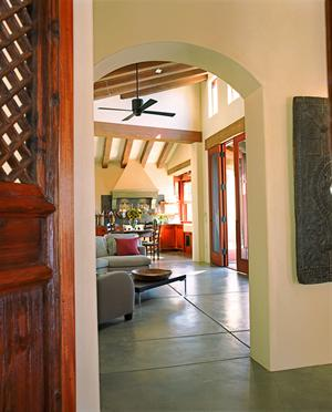 antique Chinese door built into a new space.  Builders magazine.  Photo by Duncan Livingston.