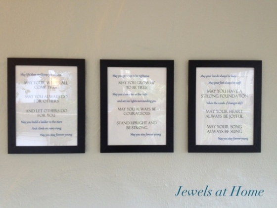 Forevery Young lyrics free printable.  Jewels at Home.