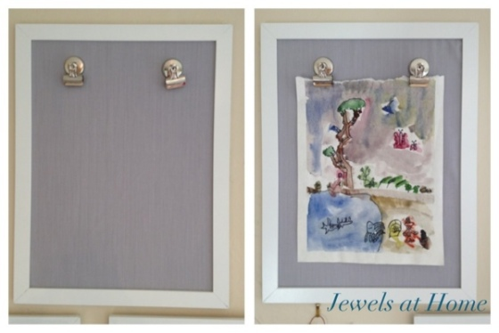 Change our your art easily with these DIY frames.  Jewels at Home.