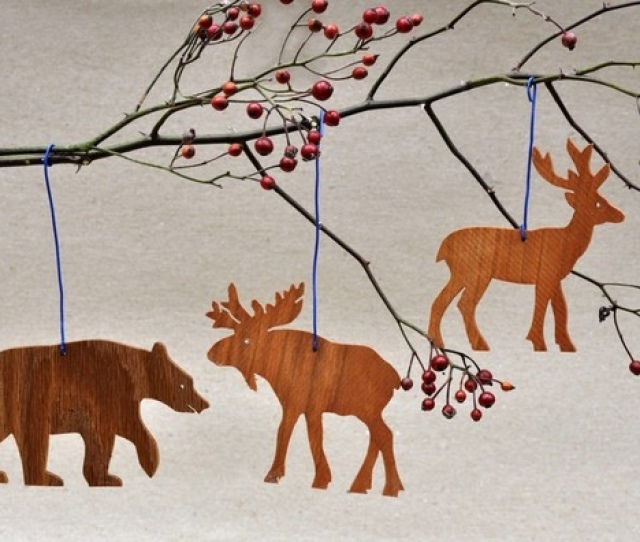 Wooden Animal Silhouette Ornaments From Arks And Animals On Etsy